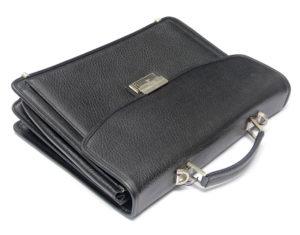 black metallic briefcase