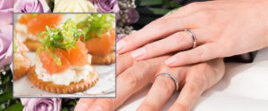 wedding-buffet-food-with-hand-and-rings