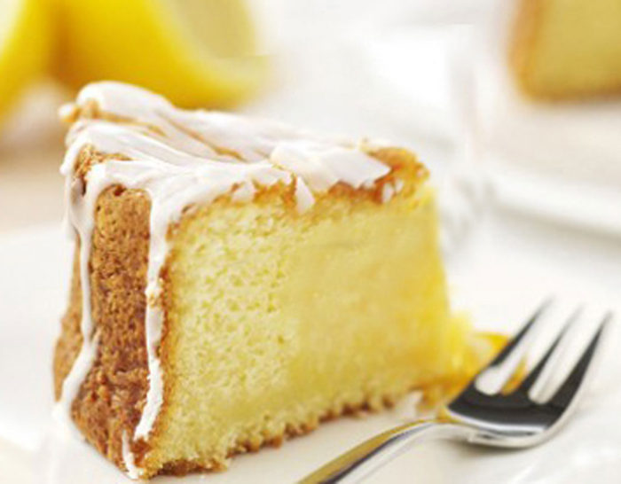 An image of a lemon drizzle cake